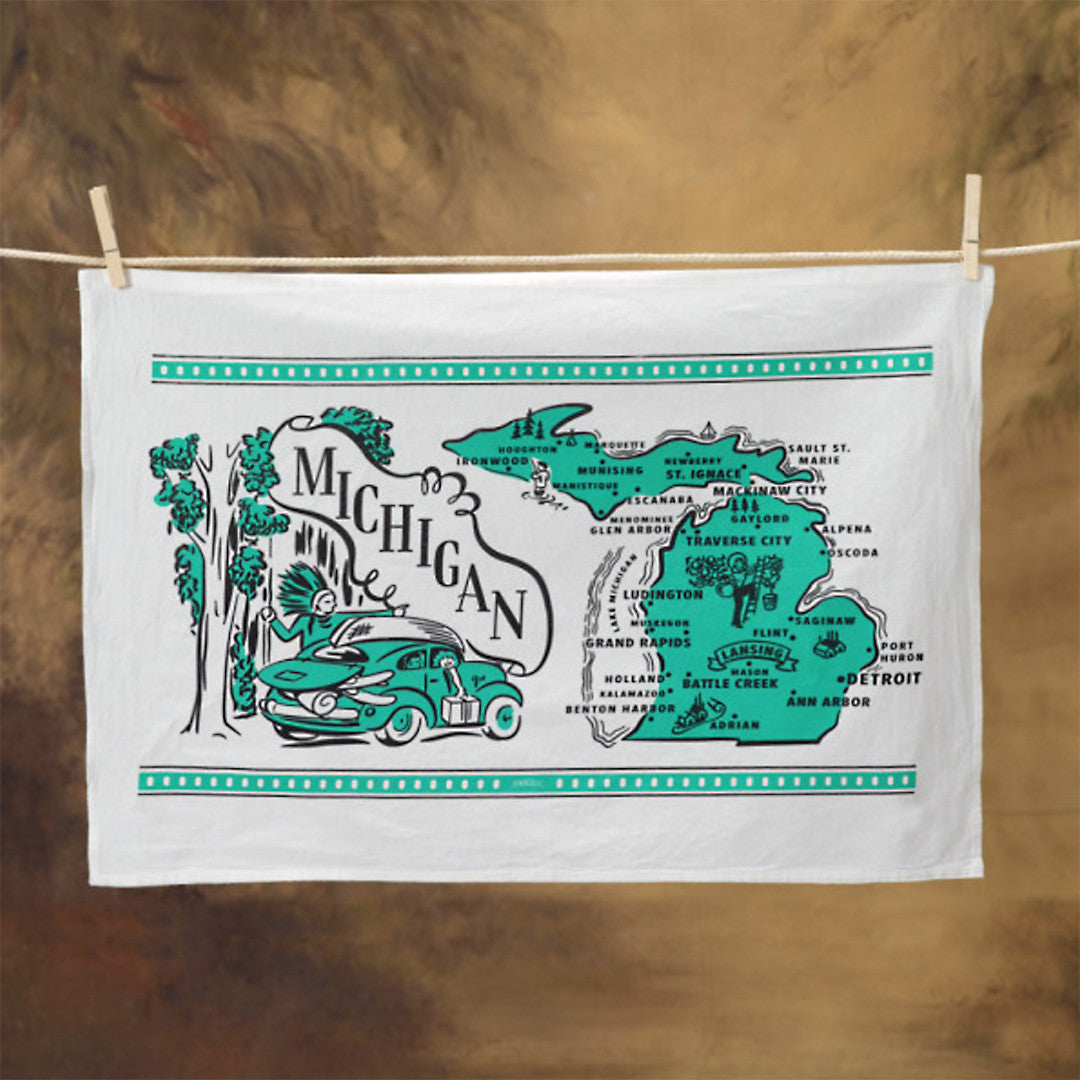 Michigan Flour Sack Towel - Shop the Mitten