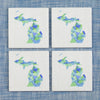 Beach Glass Coaster Set