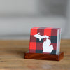 Red Buffalo Plaid Michigan Sandstone Coaster Set