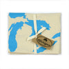 Cyan Blue Great Lakes Flour Sack Towel
