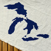 Navy Great Lakes Flour Sack Towel