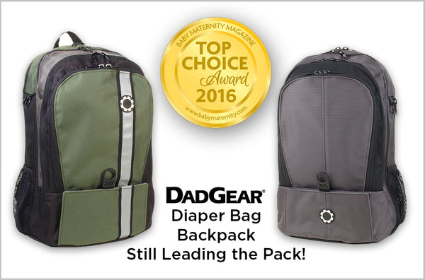 DadGear Backpack Wins 2016 Baby Maternity Award
