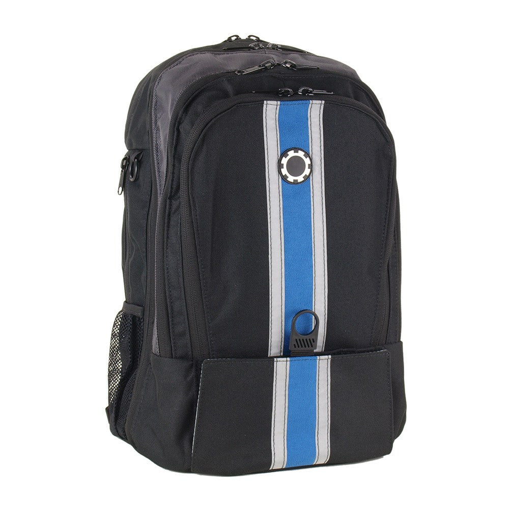 DadGear Backpack Diaper Bag Center Stripe Blue