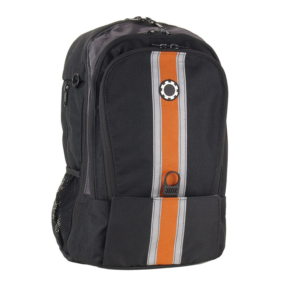 DadGear Backpack Diaper Bag Center Stripe Orange
