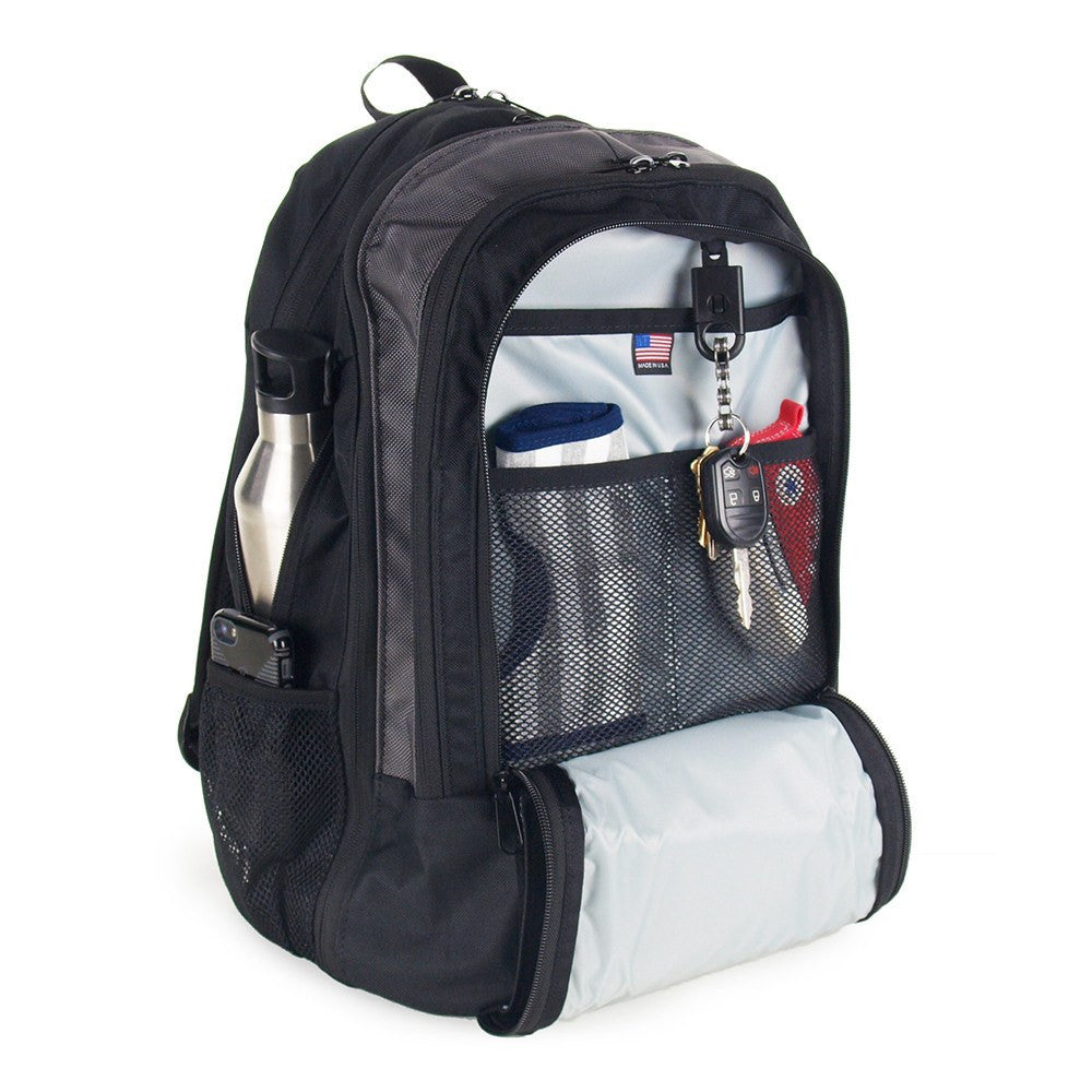 Backpack Diaper Bag  - Front Zippered Pocket