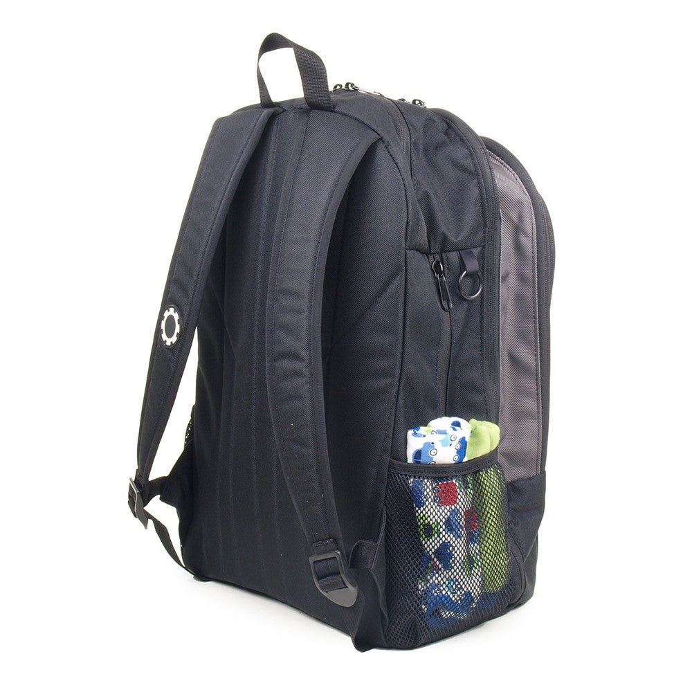 Backpack Diaper Bag - Back of Backpack and Shoulder Straps