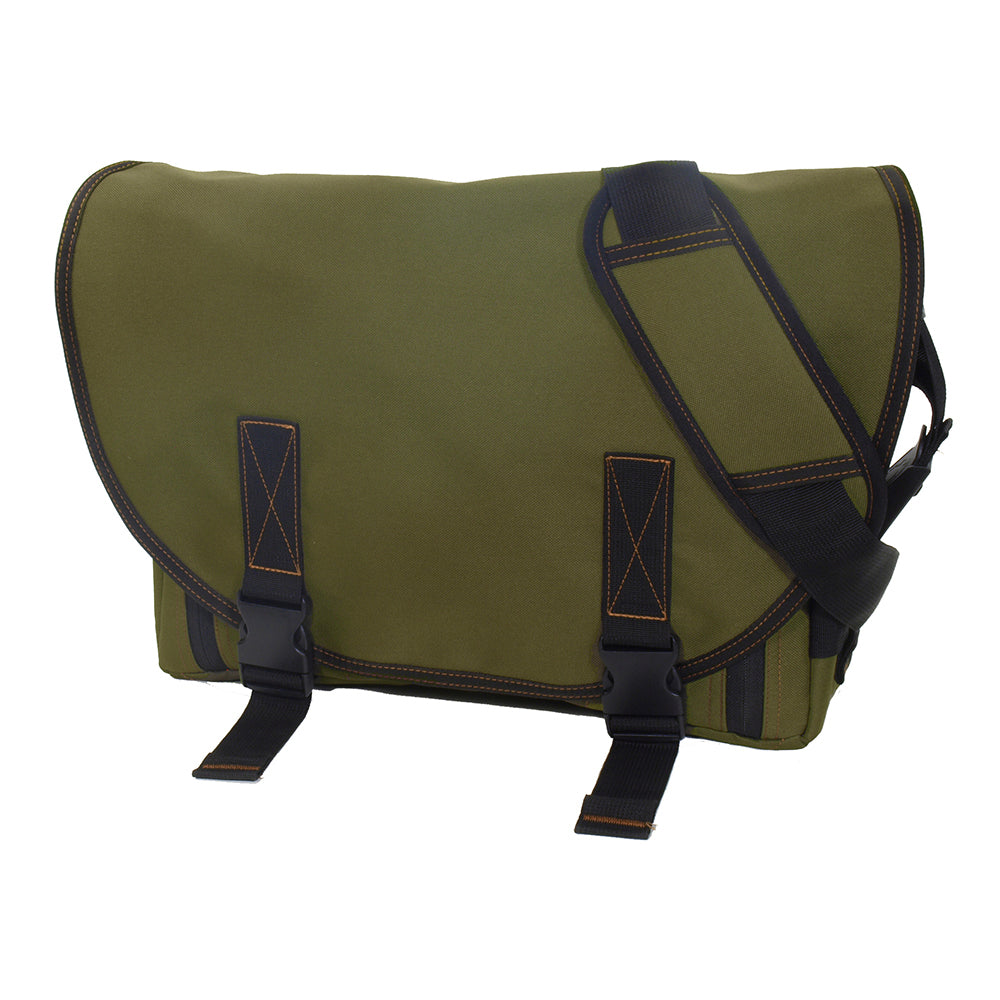 DadGear Classic Messenger Diaper Bag - Olive Green