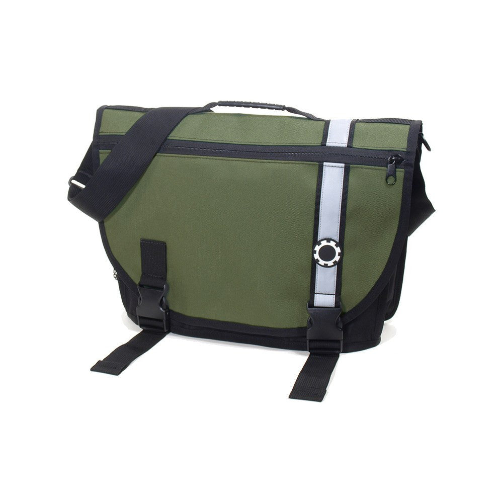 DadGear Courier Style Messenger Diaper Bag  - Retro Stripe Green