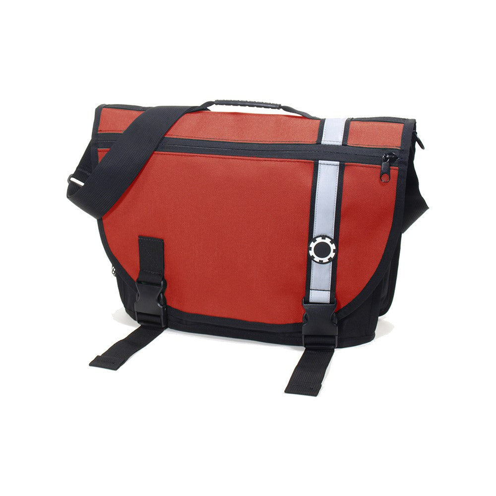 DadGear Courier Style Messenger Diaper Bag  - Retro Stripe Red