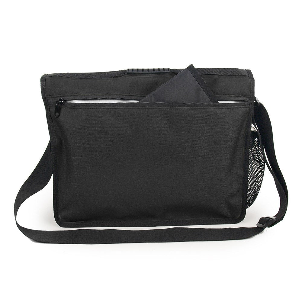 DadGear Courier Style Messenger Diaper Bag - Back Pocket for Changing Pad