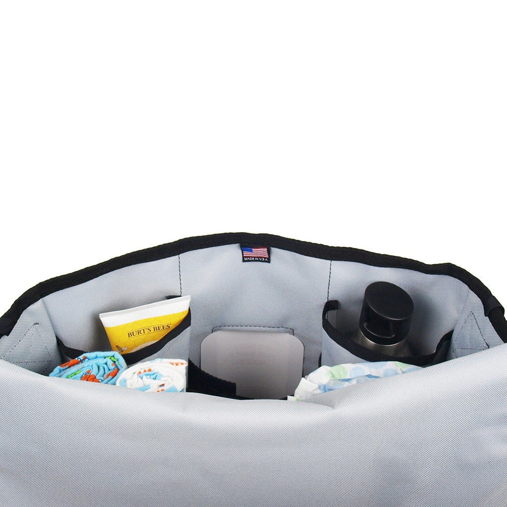 DadGear Courier Style Messenger Diaper Bag - Inside of Bag
