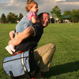 DadGear Courier Style Messenger Diaper Bag - Dad & Daughter