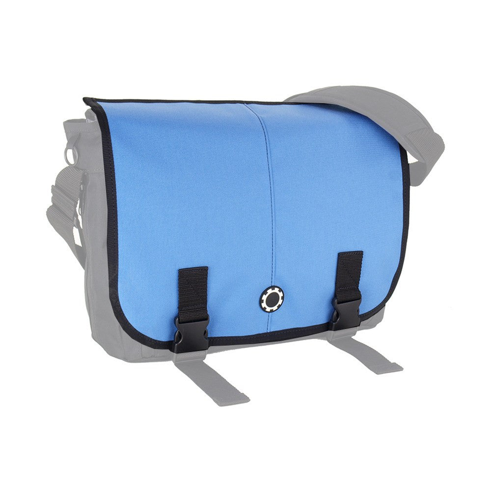 DadGear Interchangeable Messenger Flap  - Solid Columbia Blue