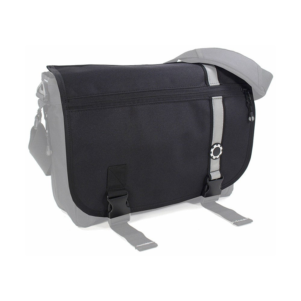 DadGear Interchangeable Messenger Flap  - Retro Stripe Retro Stripe Black
