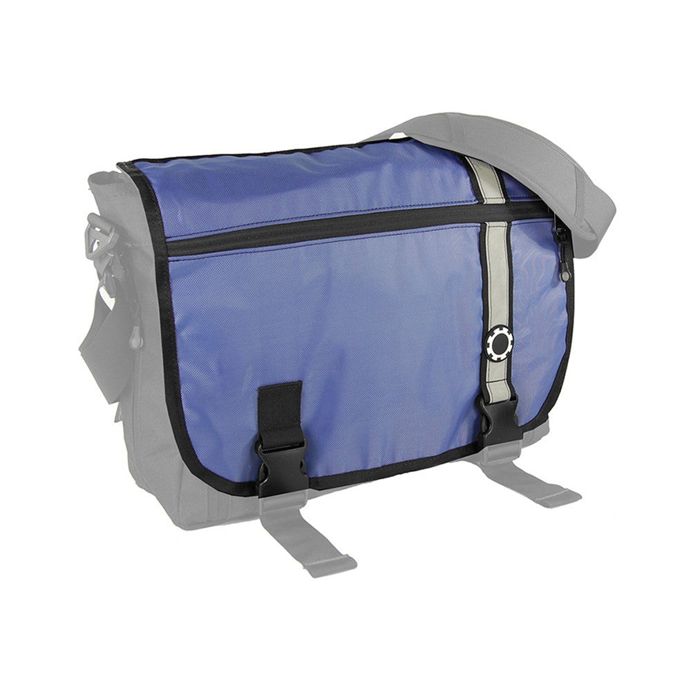 DadGear Interchangeable Messenger Flap  - Retro Stripe Retro Stripe Blue