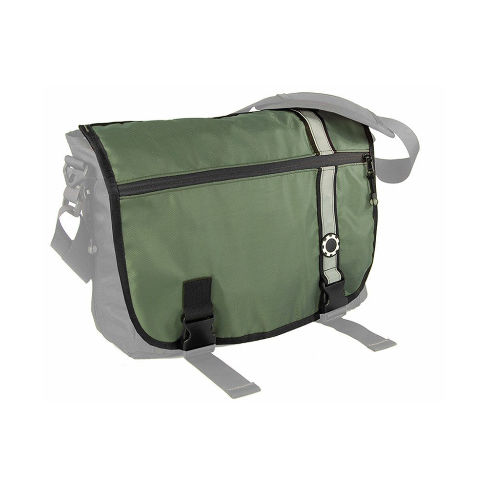 DadGear Interchangeable Messenger Flap  - Retro Stripe Retro Stripe Green
