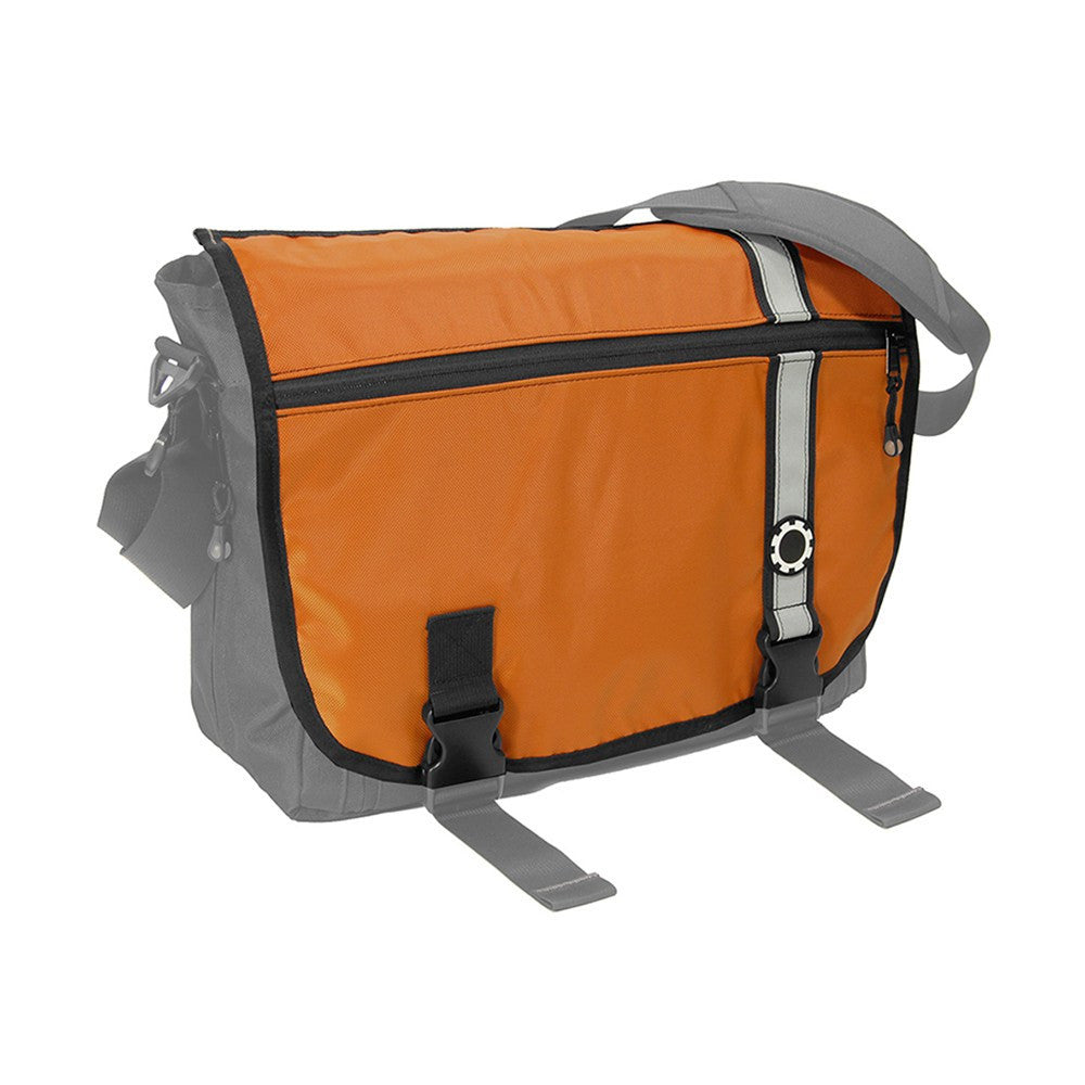 DadGear Interchangeable Messenger Flap  - Retro Stripe Retro Stripe Orange