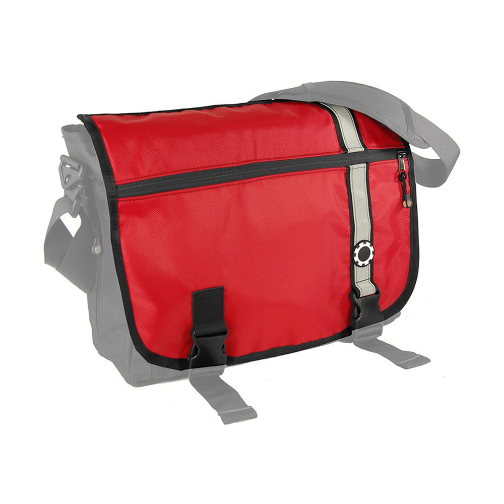 DadGear Interchangeable Messenger Flap  - Retro Stripe Retro Stripe Red