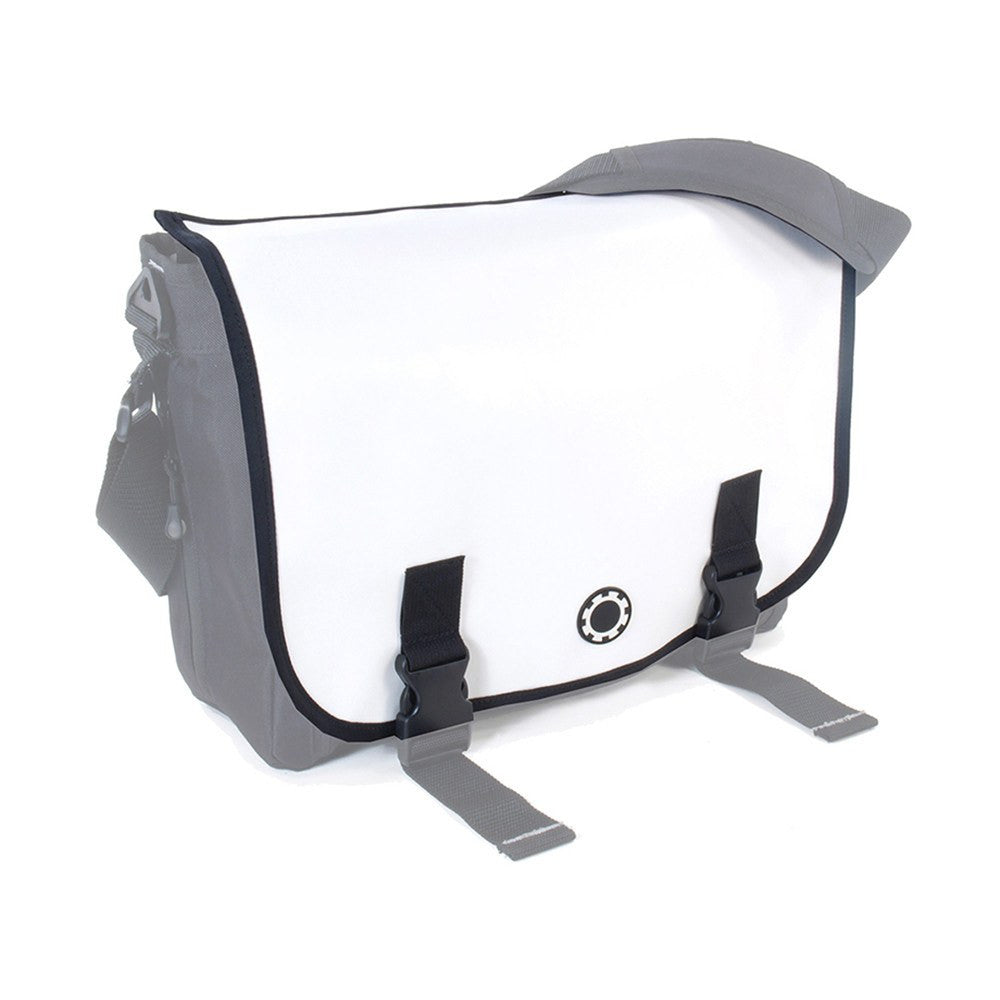 DadGear Interchangeable Messenger Flap  - Wicked White
