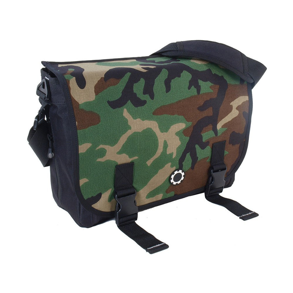 DadGear Messenger Diaper Bag  - Camouflage Woodland Camo