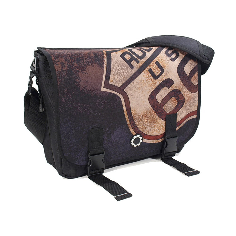 DadGear Messenger Diaper Bag  - Graphics Route 66
