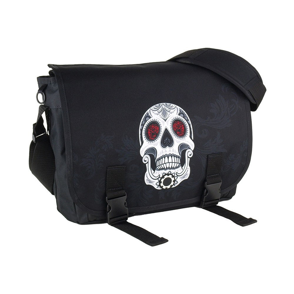 DadGear Messenger Diaper Bag  - Graphics Sugar Skull