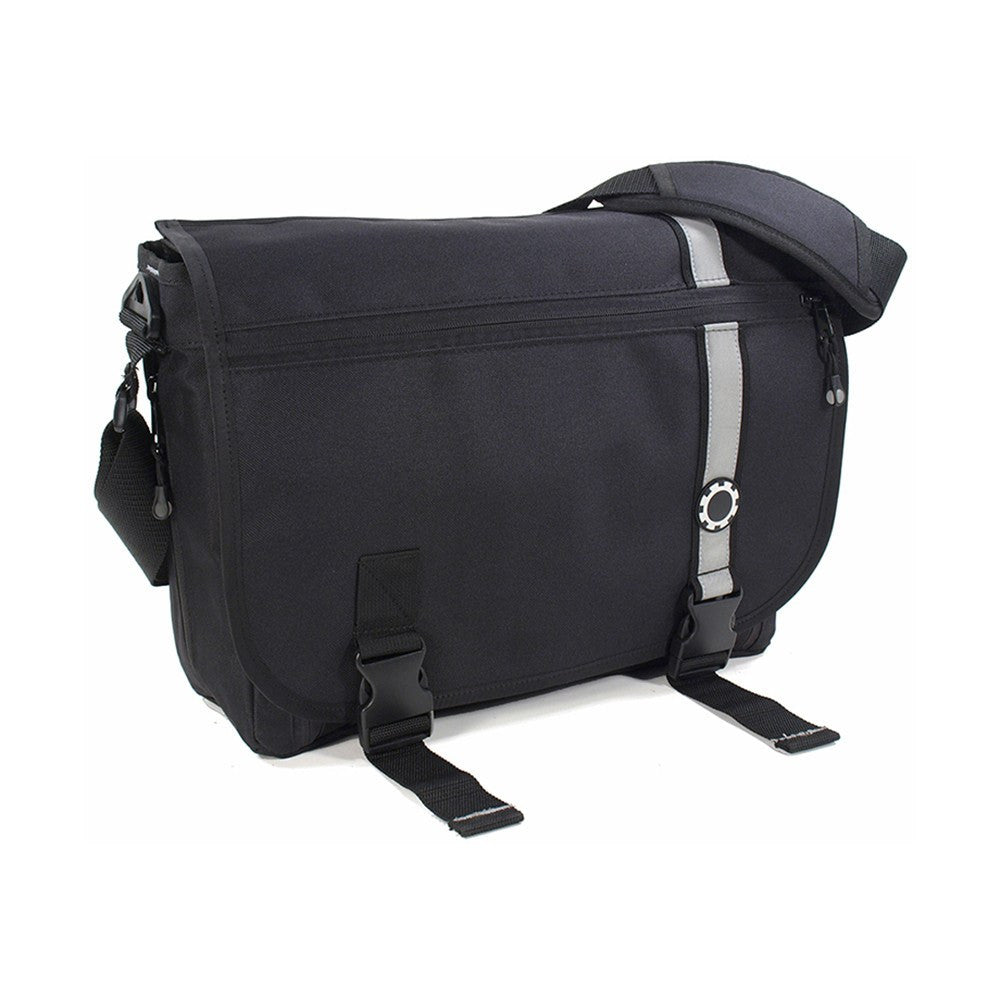 DadGear Messenger Diaper Bag  - Retro Stripe Retro Stripe Black