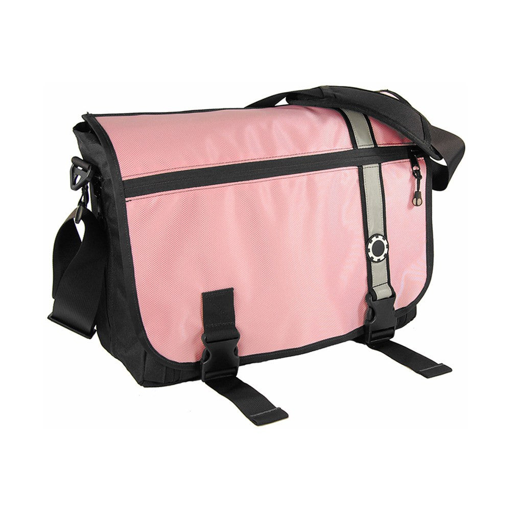 DadGear Messenger Diaper Bag  - Retro Stripe Retro Stripe Pink