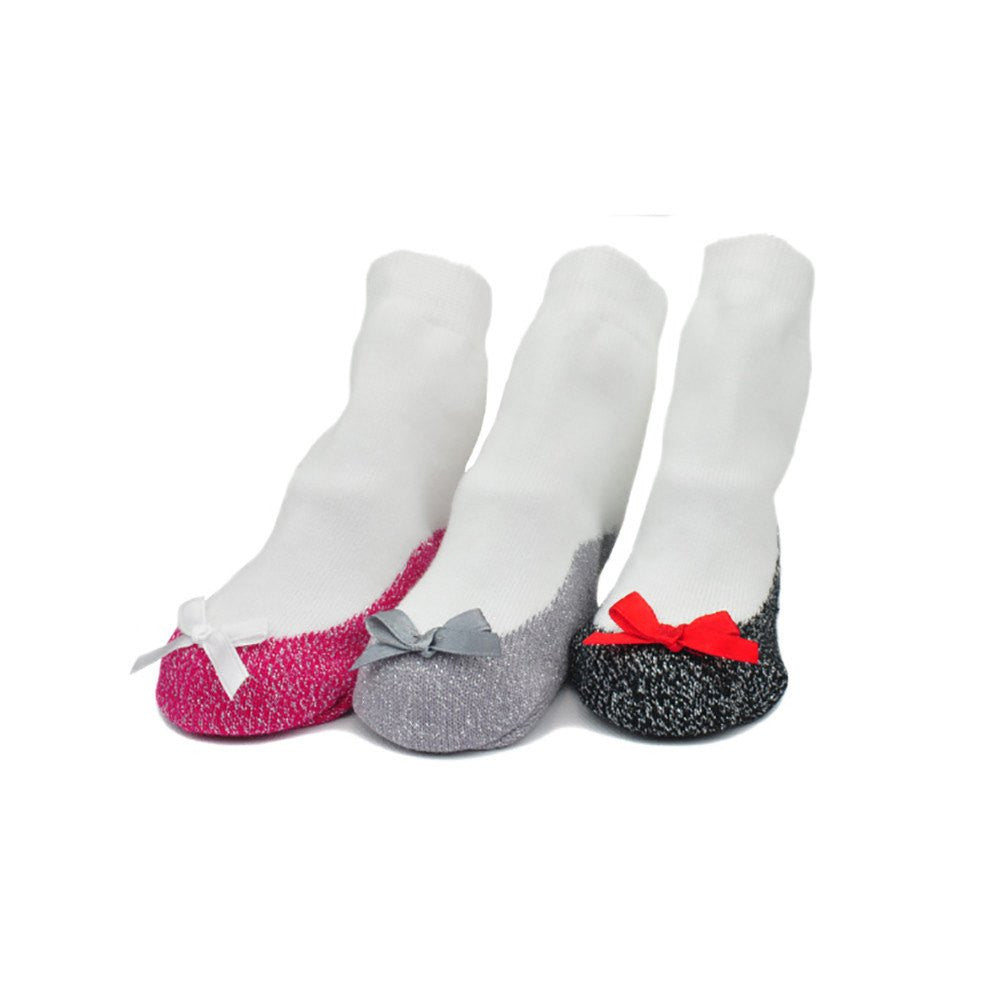 Metallic Flats Infant Socks - 3 Pair Set - DadGear