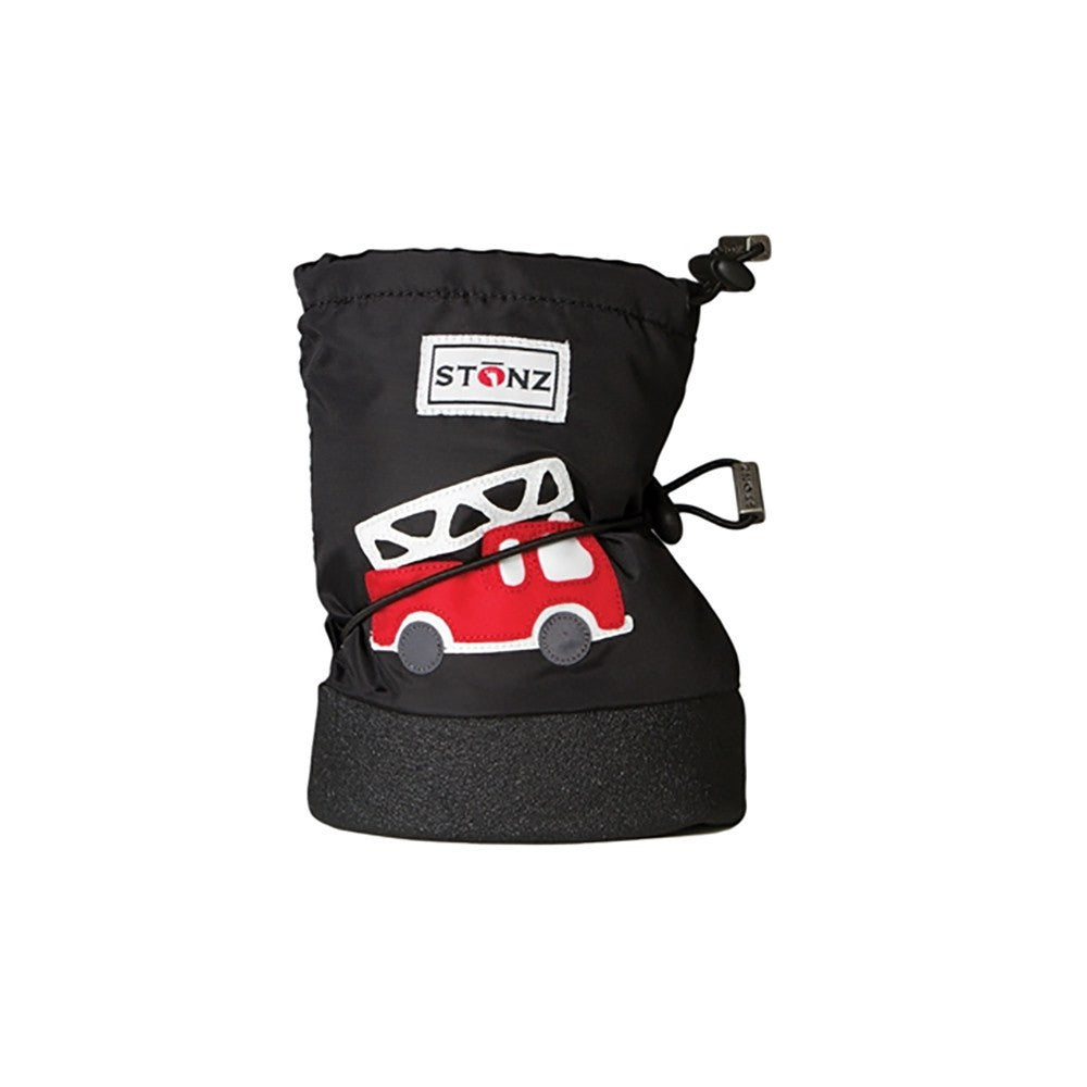 Stonz Infant Cinch Tie Booties – Black Fire Truck Small - DadGear