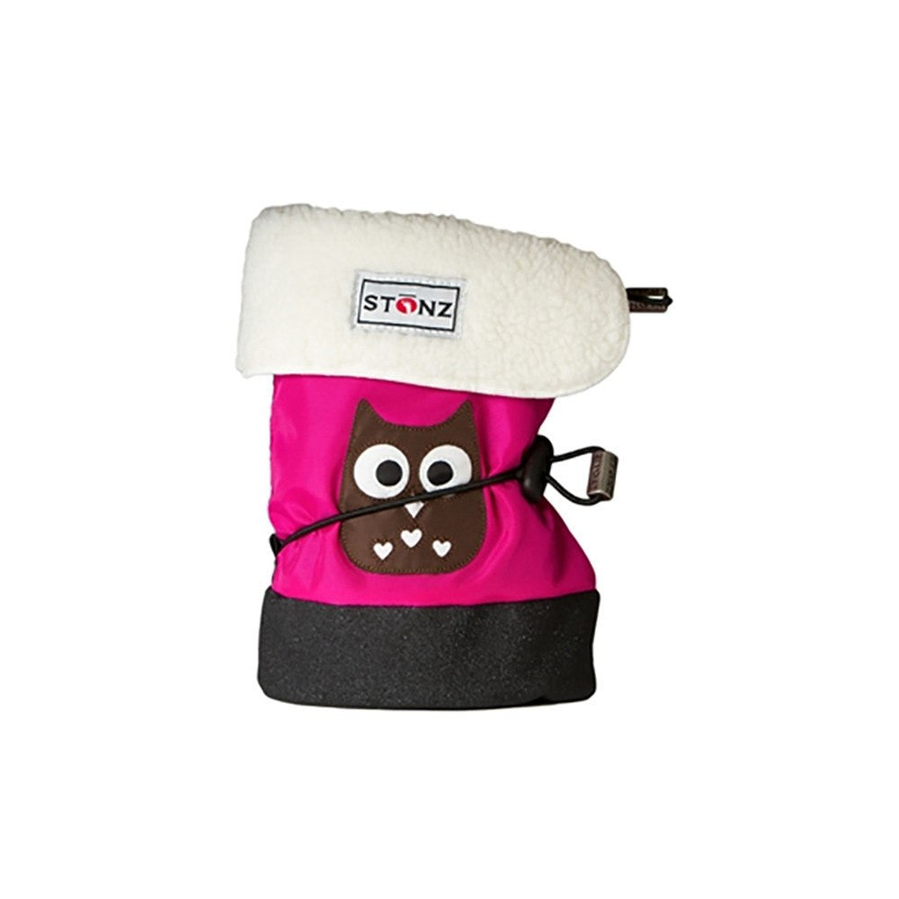 Stonz Infant Cinch Tie Booties – Pink Owl Small - DadGear