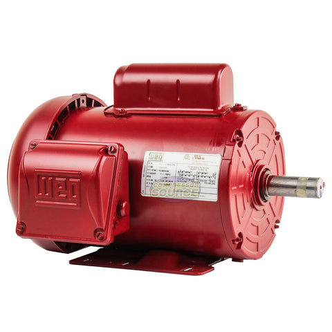 "1 HP Electric Motor 145T Frame 1745 RPM Single Phase Farm Duty 7/8"" Shaft WEG"