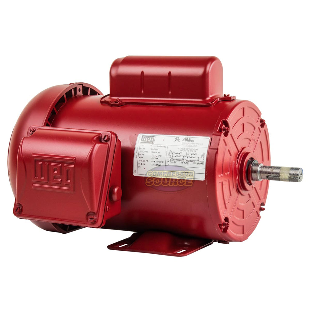 1 HP Farm Duty Electric Motor 56 Frame 1745 RPM Single Phase TEFC WEG New