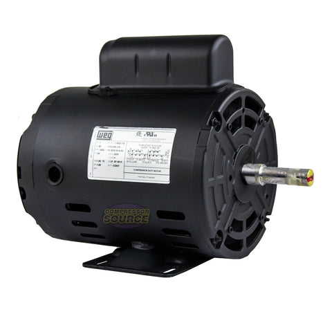 1 HP Air Compressor Electric Motor 56 Frame 3485 RPM Single Phase WEG New