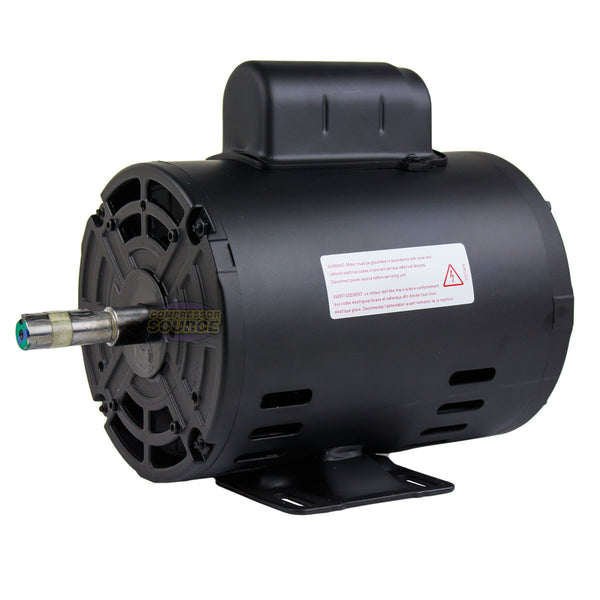 1.5 HP Air Compressor Duty Electric Motor 56 Frame 3490 RPM Single Phase WEG New