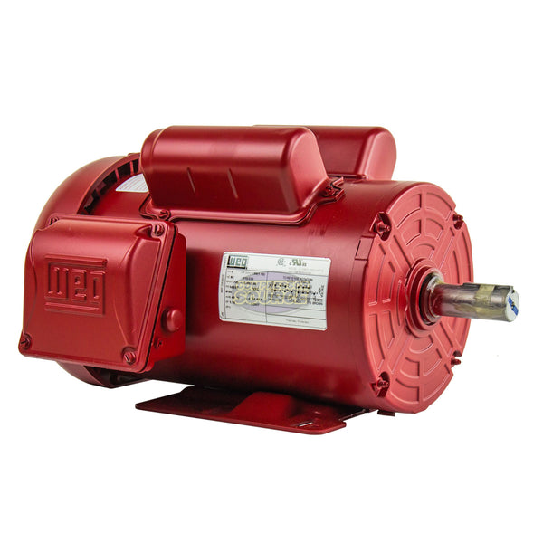 1.5 HP Air Compressor Electric Motor 145T Frame 1745 RPM Single Phase WEG