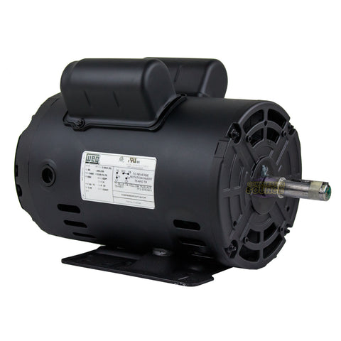 Weg 3 HP Single Phase Electric Heavy Duty Compressor Motor 56 Frame 208-230V 3450 RPM