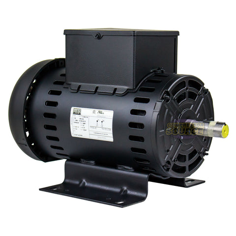 5 HP Air Compressor Duty Electric Motor W182/4Y Frame 3465 RPM Single Phase WEG