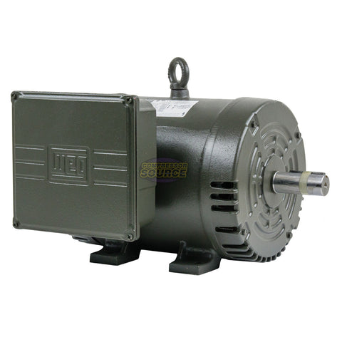 5 HP Single Phase Air Compressor Duty Electric Motor 184T Frame 3500 RPM 1Ph WEG