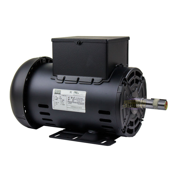 5 HP Air Compressor Electric Motor 56HZ Frame 3440 RPM Single Phase WEG New
