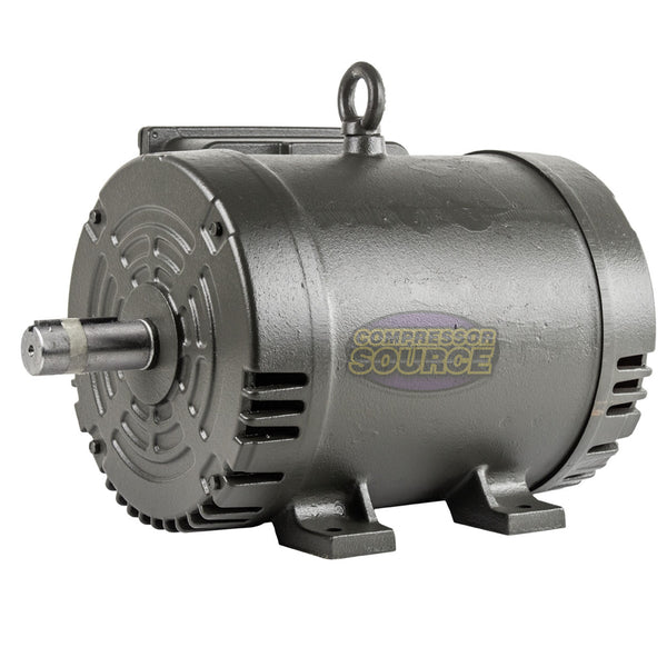 7.5 HP Single Phase Electric Motor 184T Frame ODP 3510 RPM 208-230 Volts WEG