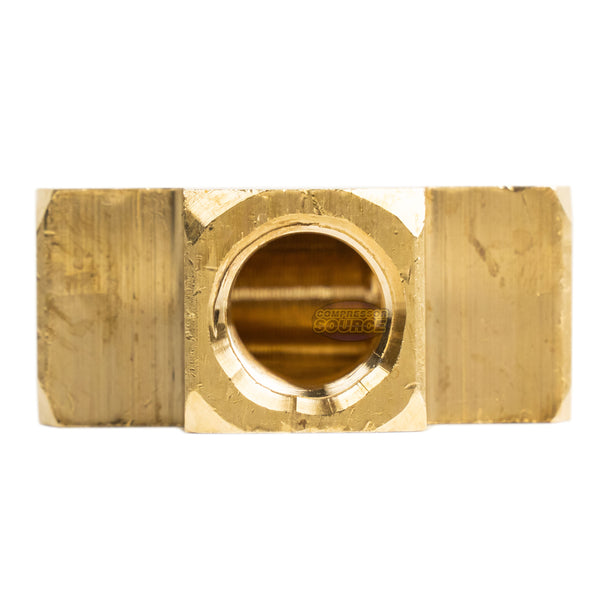 "1/4"" FNPT Brass Tee Pipe Fitting .25"" T-Fitting Solid Brass Connector"