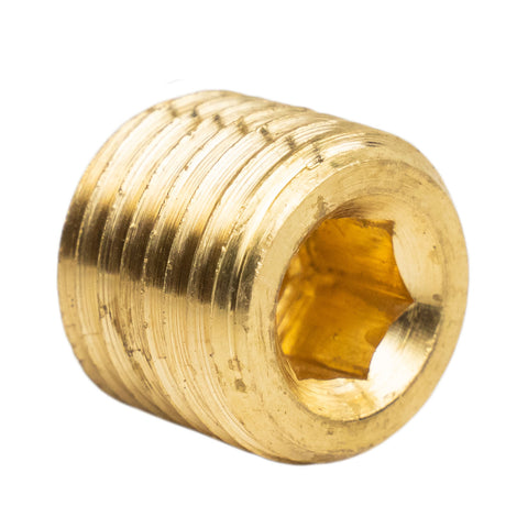 "1/4"" Pipe Plug Countersunk Hex Head Style Male NPT Brass Pipe End Fitting Cap"