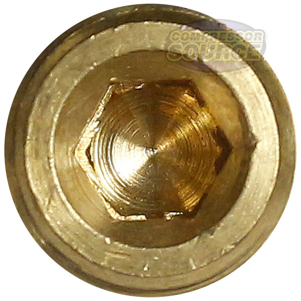 "2 Brass 1/4"" Pipe Plugs Countersunk Hex Head Style Male NPT Pipe End Fitting Cap"