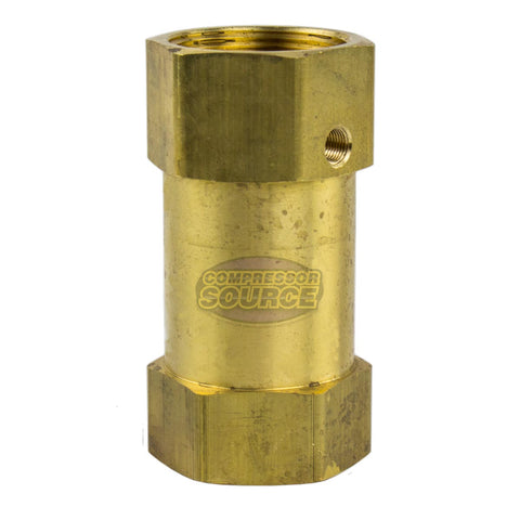 "1-1/2"" Inch Female NPT In Line Brass Compressed Air Check Valve CIL112112U"