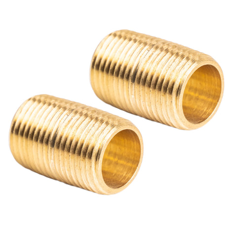 "3/8"" NPT X Male Close Pipe Nipples Threaded Brass Fitting Pipe Connector 2 Pack"