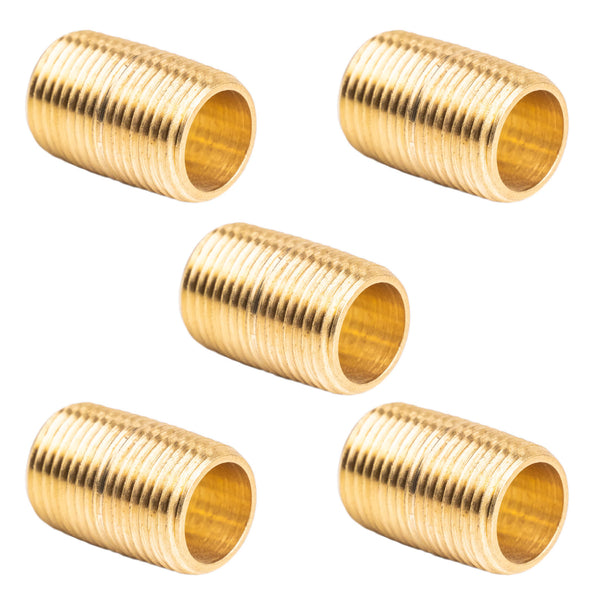 "3/8"" NPT X Male Close Pipe Nipples Threaded Brass Fitting Pipe Connector 5 Pack"