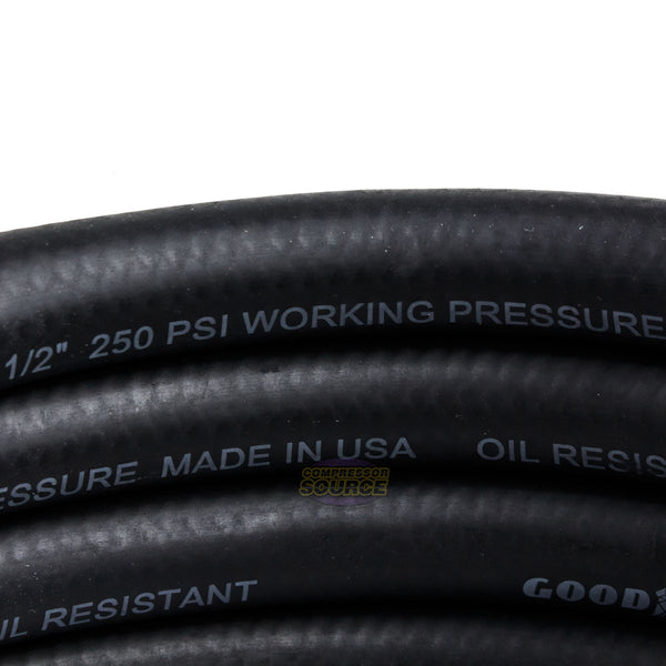 "Goodyear 25' ft. x 1/2"" in. Rubber Air Hose 250 PSI Air Compressor Hose 12191"