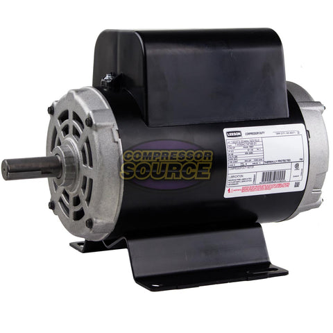 "6.5 HP R56Y Frame Leeson Compressor Duty Electric Motor 7/8"" Shaft # 122373.00"
