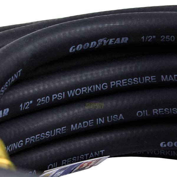 "Goodyear 50' ft. x 1/2"" in. Rubber Air Hose 250 PSI Air Compressor Hose 12707"
